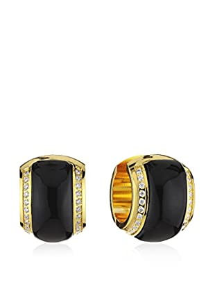 Mike Ellis New York Pendientes (Negro / Dorado)