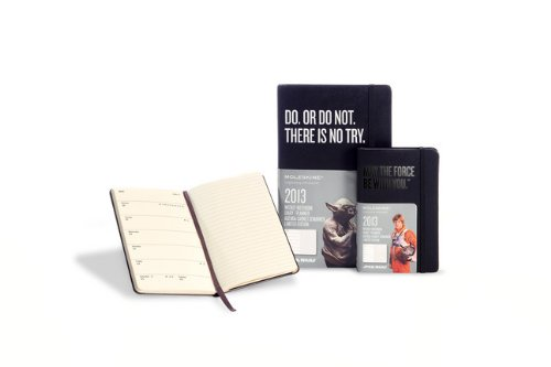 Moleskine 2013 12 Month Star Wars Limited Edition Weekly Notebook Planner Black Hard Cover Large (Moleskine Star Wars)