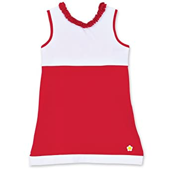 Buy Chez Ami by Patsy Aiken Designs Girls A-Line Tennis Dress Red & White by Patsy Aiken Designs