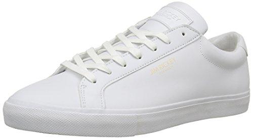 Jim RickeyChop - Scarpe da Ginnastica Basse Uomo , Bianco (Blanc (JRS16171D)), 42