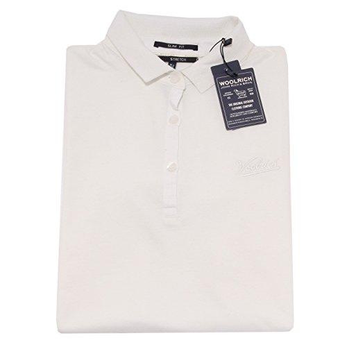 3171O polo manica corta WOOLRICH bianco maglie donna t-shirt women [L]