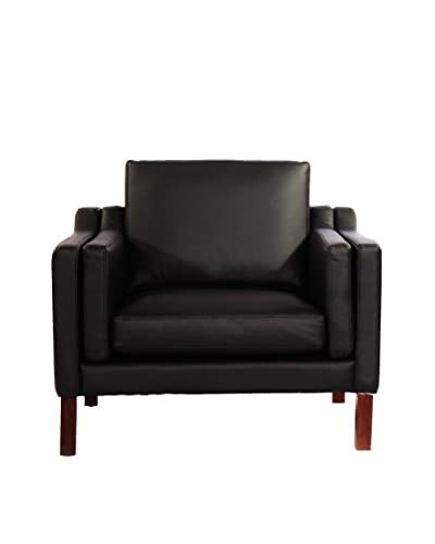 Kardiel Monroe Mid-Century Modern Armchair, Black