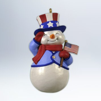 Hallmark 2012 Keepsake Ornaments Patriotic Snowman