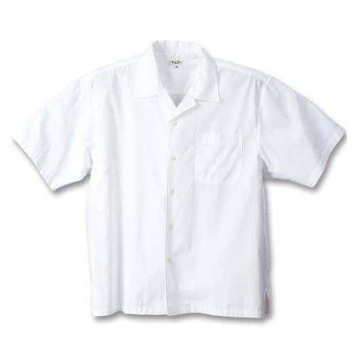 (マンチェス) MANCHES オープン半袖シャツ 4L ホワイト