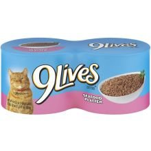 9 Lives Seafood Platter Dinner Canned Cat Food 5.50 oz, 4-Count (Pack of 6)