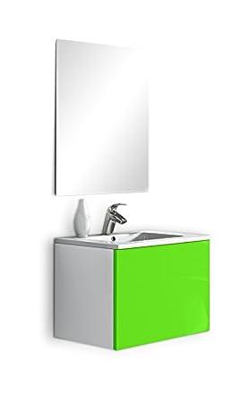 lebana Eris Mobile da bagno 60x45x45 cm Verde
