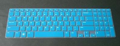 Bingobuy® Semi-Blue Ultra Thin Silicone Keyboard Protector Skin Cover For Dell Inspiron 15-3521 15R-5521 M531R 15R-5537 I15Rv-477B I15Rv-4290Blk I15Rv-8524Blk I15Rv-6143Blk I15Rv-10905Blk I15Rv-8526Blk I15Rv-8525Blk I15Rv-6144Blk I15Rv-6145Blk 15-3537 I15