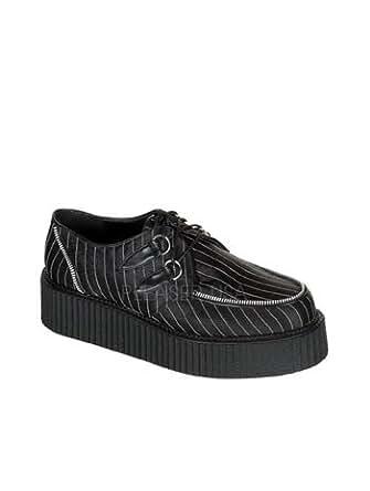 Pinstripe Satin Lace Up Creeper Mens Shoe - 12