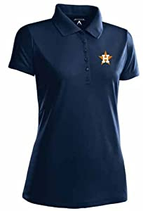 Houston Astros Ladies Pique Xtra Lite Polo Shirt (Cooperstown) by Antigua