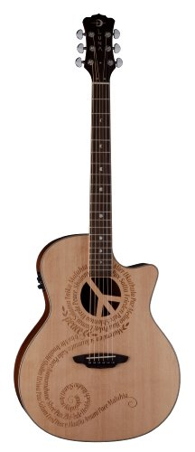 Luna Oracle Series Peace Grand Concert Acoustic-Electric Guitar
