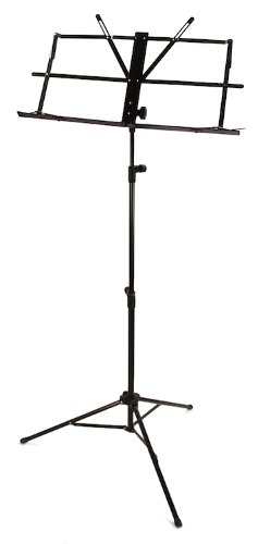 Sheet Music Stand - Musical Score Notes Tripod Black Folding Carrying Bag