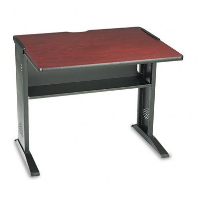 Buy Low Price Comfortable Safco Computer Desk W/ Reversible Top, 35-1/2W X 28D X 30H, Mahogany/Medium Oak/Black (B001GKS924)
