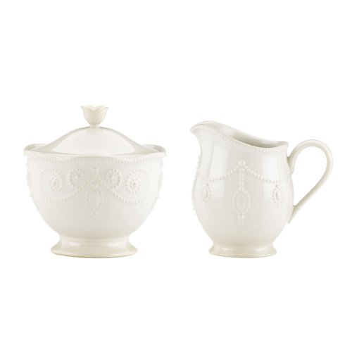 Lenox French Perle Sugar And Creamer, White