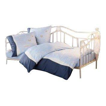 Day-Bed / Einzelbett / Metallbett cremeweiß