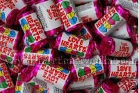 British Swizzels Love Hearts Mini Roll Candy: 3kg Bag, (Approx 300 Rolls)