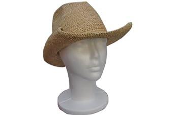 goal 2020 womens crocheted raffia cowboy small size hat