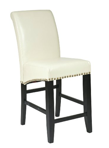 OSP Designs Office Star Designs Metro Parsons Barstool, Cream