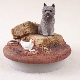 Conversation Concepts Miniature Cairn Terrier Gray Candle Topper Tiny One \