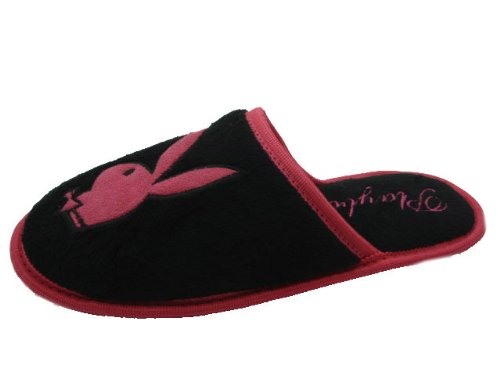 Image of PLAYBOY PB8322 Perfect for everyday wear, these slippers feature the Playboy Bunny logo on front. (B0086SXITS)