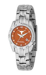 Fossil Texas Longhorns Ladies Stainless Steel Analog Sport Watch
