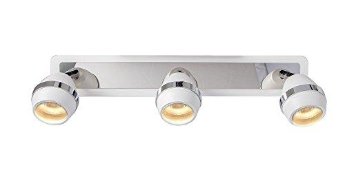 COOLWEST-Strahler-Deckenstrahler-3-flammig-Wei-Deckenleuchte-Lampenschirm-Spot-fr-GU10-360-Grad-Winkel-einstellbar-Spiegel-Frontleuchte-IP20-Nicht-inbegriffen-Glhlampen