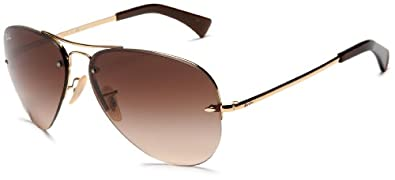 Ray-Ban RB3449 Aviator Sunglasses 59 mm, Non-Polarized, Arista/Brown Gradient