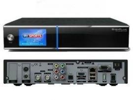 GigaBlue HD Quad PLUS schwarz 2x DVB-S2 1x DVB C/T HDTV Linux HbbTV LAN Sat/Kabel Receiver inkl. 1000 GB Festplatte