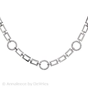 Annaleece Impressions Necklace Made with Swarovski Elements