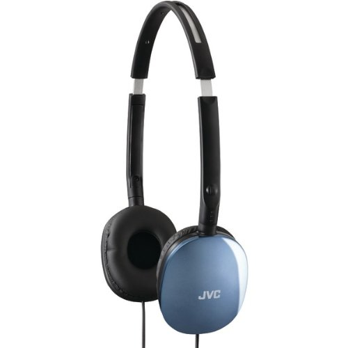 Jvc Has160A Flats Lightweight Headband Headphones (Blue)