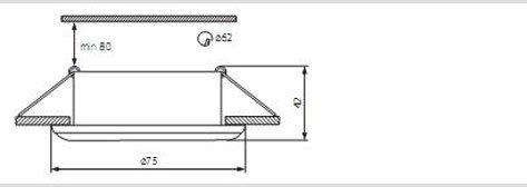 Einbauleuchte Aluminium IP44 Bad MR16 G5,3, LED, 12V