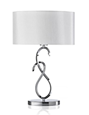 Scroll Metal Table Lamp