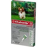 Bayer K9 Advantix II Blue 6-Month Flea & Tick Drops for Extra Large Dogs, 55+ lbs.