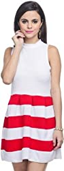 Addyvero Women's Gathered Red Dress