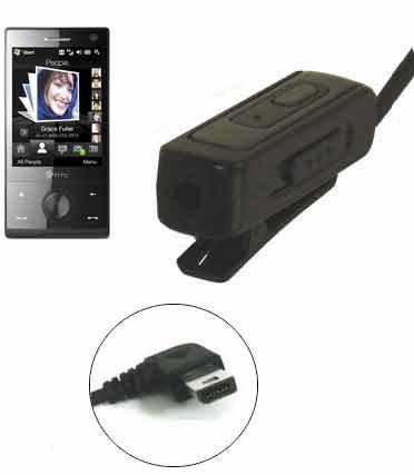 Trendline24 Mini USB (11 Pin zu 3,5mm) Headset / Kopfhörer / Musik Adapter mit Volume Control für 11 pin to 3.5mm für Qtek, HTC, T-Mobile, O2 XDA, Vodafone VPA, i-mate, Dopod, Orange Smartphones/ PDAs -inkl. samtweichem Transportbeutel