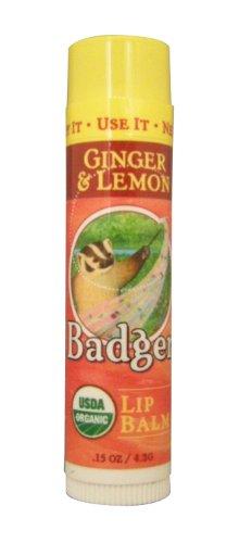 BADGER バジャー バジャー クラシックリップバームスティック ジンジャー&レモン 4.2g