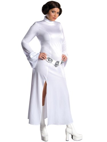 Plus Size Princess Leia Costume Star Wars Movie Costume Long White Dress Womens