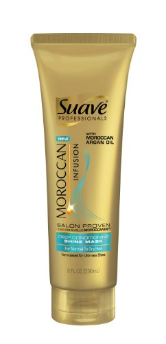 Suave Professionals Moroccan Infusion Deep Conditioning Shine Mask, 8 Ounce (079400259615)