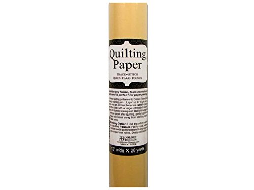 Golden Threads Quilting Paper - 12 Inches Wide x 20 Yards Long: Trace, Stitch, Quilt, Tear, Pounce