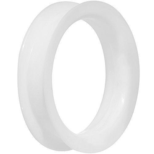 45mm-bianco-ultra-soffice-doppio-piatta-svasatura-tunnel-in-silicone