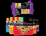 KIND Healthy Grains Granola Bars, VARIETY 5 PACK: Maple Pumpkin Seeds with Sea Salt, Dark Chocolate Chunk, Peanut Butter Dark Chocolate, Oats & Honey with Toasted Coconut, and Vanilla Blueberry.