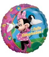 "18"" Mickey Mouse Minnie Feliz Cumpleanos - 1"