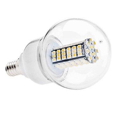 Led Bulbs - E14 6W 120X3528 Smd 480-500Lm 3000-3500K Warm White Light Led Ball Bulb (Ac 110-130/Ac 220-240 V) ( Voltage : 110V )