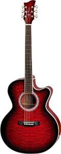 Jay Turser jta-424qcet-rsb  Acoustic-electric Guitar, Red Sunburst