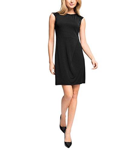 ESPRIT Collection Damen Etui Kleid 115EO1E013, Knielang, Gr. 40 (Herstellergröße: L), Schwarz (BLACK 001)