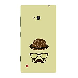 Skin4gadgets Hipster Pattern- Hat, Glasses, Mustache, Color - Khakhi Phone Skin for LUMIA 720