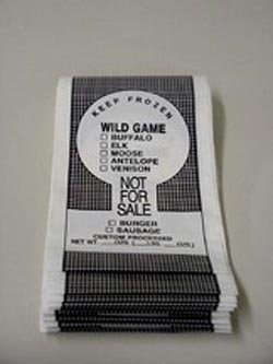 1 lb. Wild Game Bags- 100 count