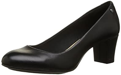 Hush Puppies Imagery, Women's Court Shoes, Black Leather, 3 UK