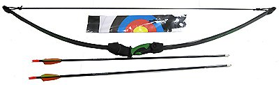 Lil' Sioux Junior Recurve Bow Set / Authentic-Looking Riser w/ Pin Sight, Archery