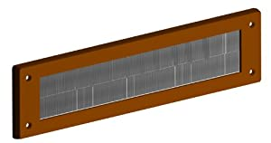 Stormguard 06SR0150000B Internal PVC Letter Box Brush Cover - Brown