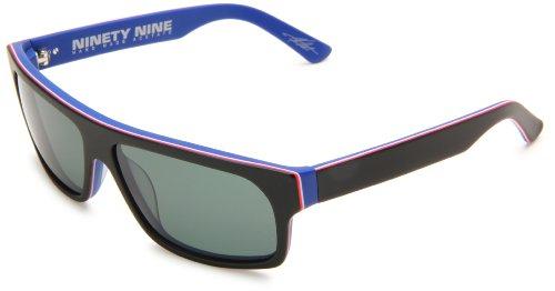 Electric Visual Ninety Nine Rectangle Sunglasses,Matte Rwb Frame/Grey Lens,One Size